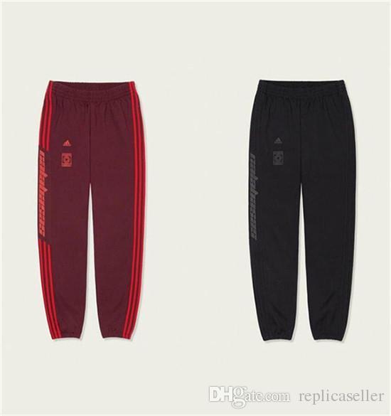 18ss Kanye West Yeezus season 5 Calabasas elastic waist track Pants Trousers Men Women CV7905 sport Jogger Sweatpants Outdoor Pants