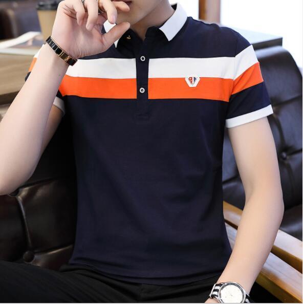 Estate Mens Designer Polo 2019 Moda vendita calda Magliette per uomo Polo di marca manica corta Streetwear Mens traspirante Tees Camicie M-4XL