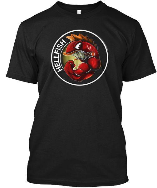 La maglietta di tee Tagless popolare Flying Hellfish