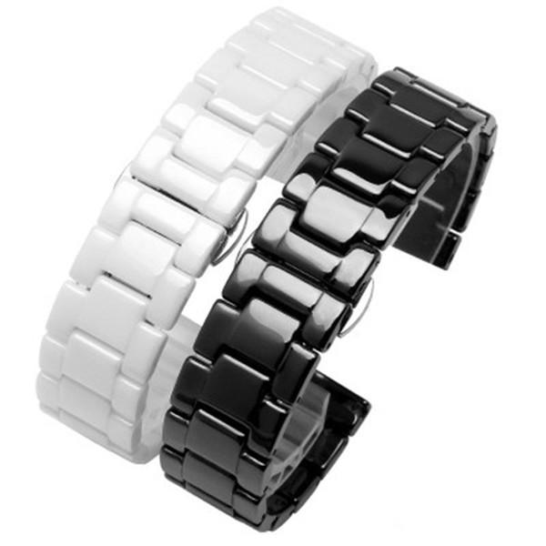 Luxus keramik armband für apple watch 38mm 42mm butterfly schnalle kette stil armband mit adapter für iwatch strap