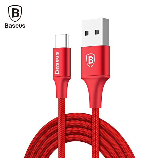 New Arrived Baseus Rapid Series Type-C Cable 2A Fast Charging Data Transmission Cord with Indicator Light 1M