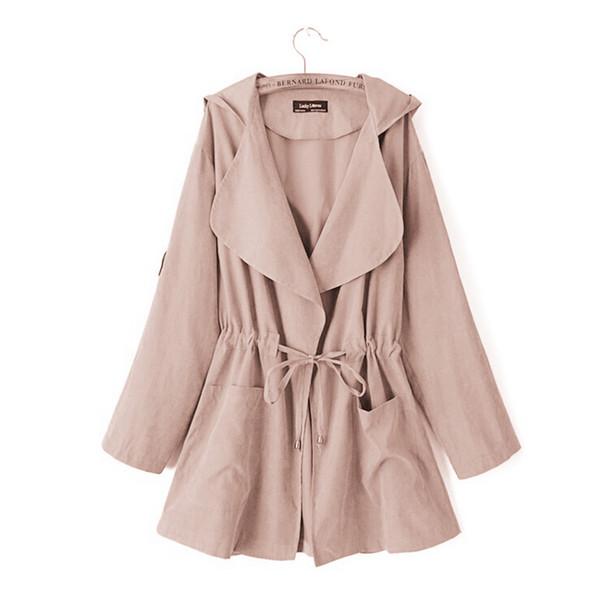 Outono inverno quente engrossar mulheres casaco de lã longo solto ocasional com capuz longo casaco mulheres outerwear