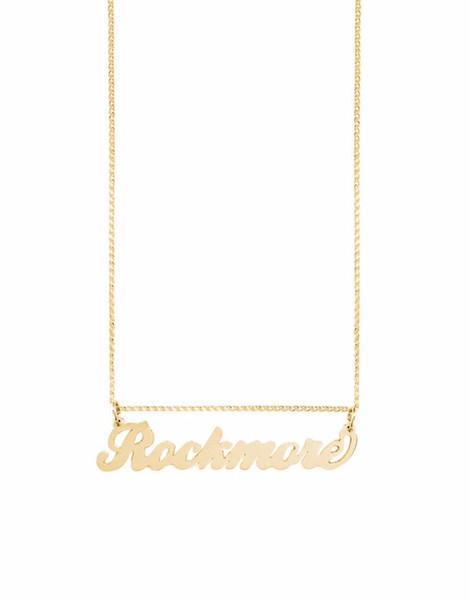 Fashionable Suspension Letter Necklace Women Kolye Choker Jewelry Custom Name Necklace Statement Rose Gold Stainless Steel Chain
