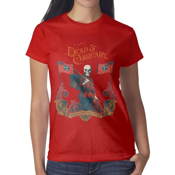 Agradecido muertos muertos y compañía Bonnaroo poster Mujeres camisetas Moda al por mayor Camiseta a granel Impresión O Cuello Camisas Mujer Maravilla Camiseta