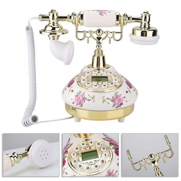 MS-9101 Старинный Ретро Имитация Старинный Телефон для Домашнего Офиса Использовать Старинный Телефон Новый