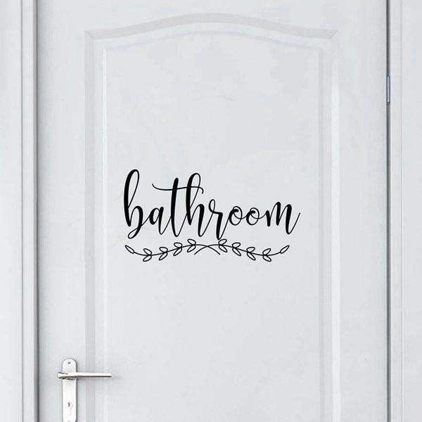Ucuz Duvar Çıkartmaları Banyo Işareti Çıkartması Ev Tuvalet Kapı Sanat Duvar Dekor, Çamaşırhane Kapı Burcu Vinil Sticker Çiftlik Evi Tarzı Duvar Çıkartmaları