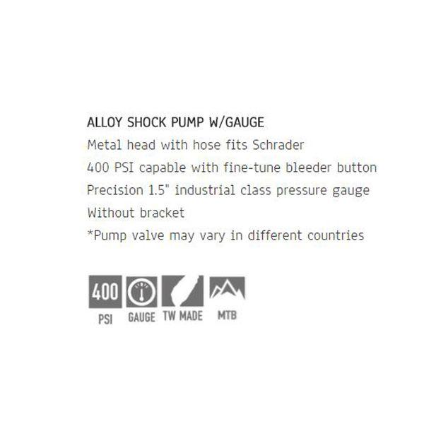 Beto Precision Bike Suspension Fork Shock Pump 400 PSI Braided Hose MP-035