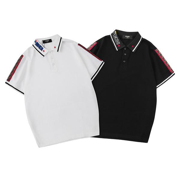 2019 New Mens Brand Polo Designer Shirt en verano para hombre Top camisas de manga corta Últimas solapa Casual Tees Tamaño S-2XL