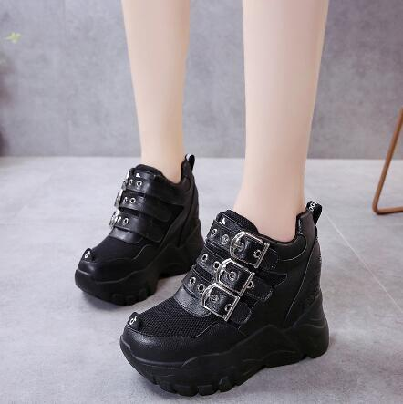 2020 new spring and autumn women's super thick bottom increase shoes sports shoes comfortable breathable casual shoes