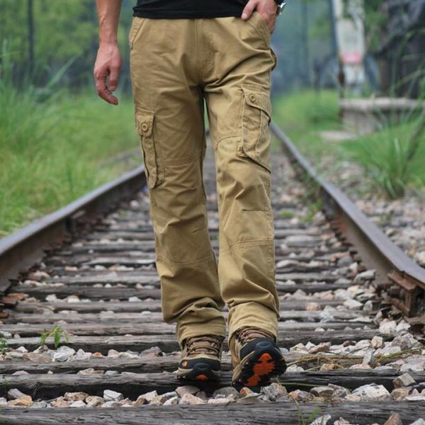 Plus Size 44 42 40 Mens Cargo Pants With Pockets Fashion Hip Hop Streetwear Big And Tall Casual Tactical Pants Men