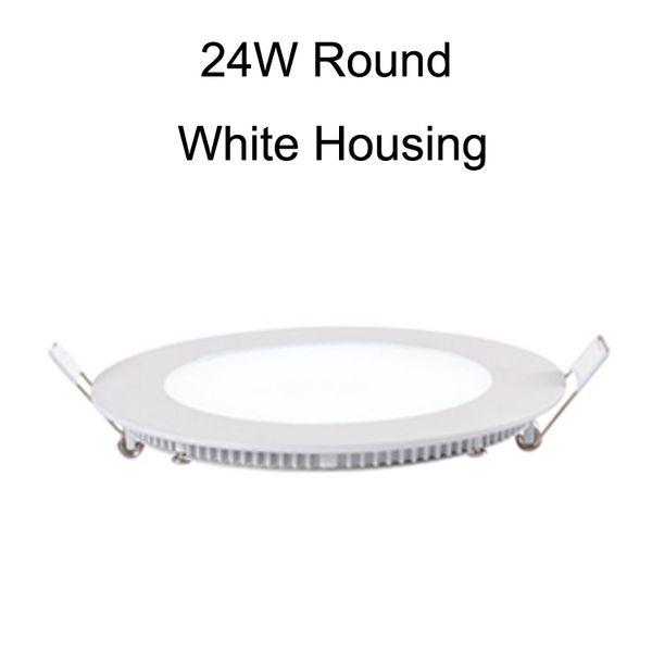 24W Round White Housing