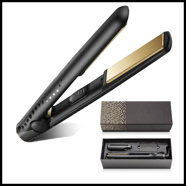 top popular STOCK V Gold Max Hair Straightener Classic Professional styler Fast Hair Straighteners Iron Hair Styling tool Good Quality US UK EU AU PLUG 2021