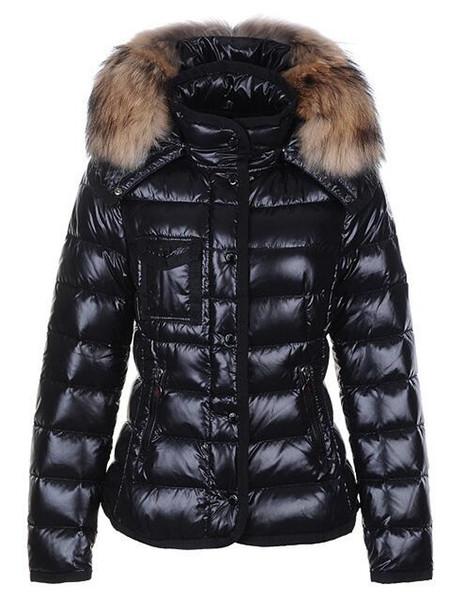 2019 klassische Marken-Frauen-Winter-warme Daunenjacke mit Fellkragen Federkleid Jacken für Frauen im Freien Daunenmantel Frau Fashion Jacke Parkas
