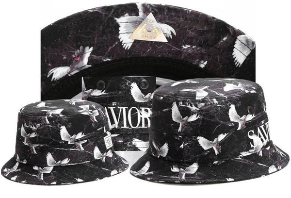 Top Selling Parrot Print Cayler Sons Bucket Caps For Mens Womens Foldable Fishing Caps Black damn Fisherman Beach Sun Visor
