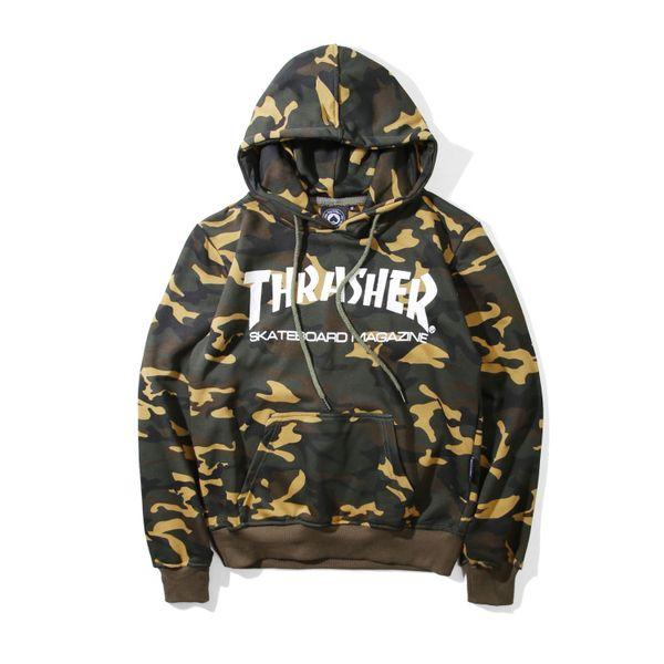 Tide Designer Hoodies Men Flame Terry Pattern Sweatshirt Camouflage Mens Hoodies Letter Printing Men's Sweater Aisan Size M-XXL