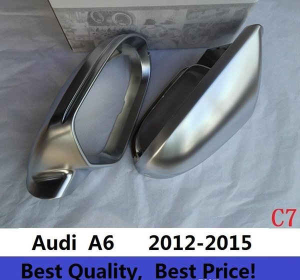 Rearview Mirror Case Side Mirror Chrome Matt Cover For Audi A6 C7 2012-2016 One Pair
