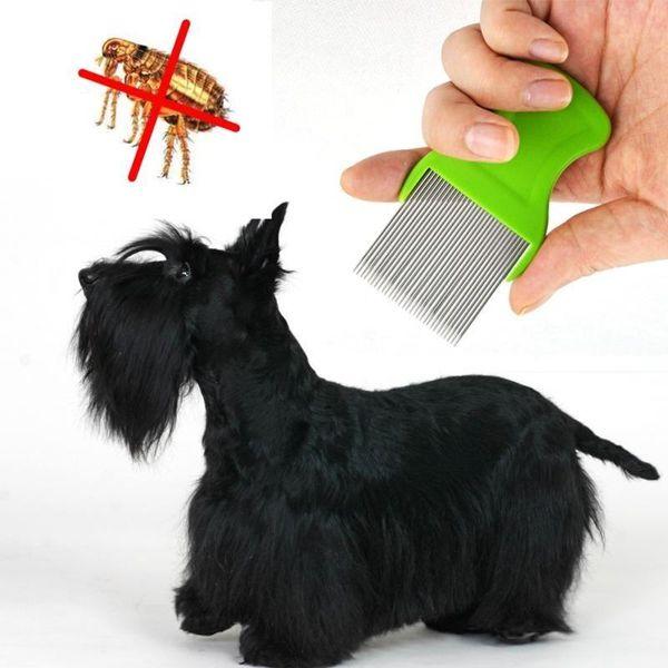 Evcil Tarak Sirkeler Için Lice Cep Pet Bakım Tarak Pire Kurtulmak kurtulun Pin Tarak Köpek Kedi Saç Atma Malzemeleri tımar Aracı