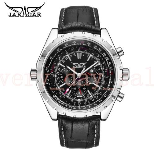 JARAGAR Top Luxury 45mm Brand Men Watch Mens Fashion Mechanical Watches Man Casual Business Waterproof Wristwatch Relogio Masculino 116610