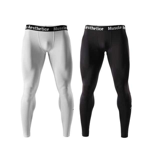 Men's Compression Dry Cool Sports Tights Pants Base Layer Running Leggings Yoga Track Pants