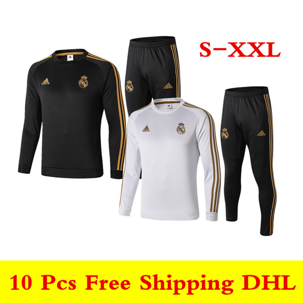 top popular High quality new 19 20 Real Madrid tracksuits 2019 2020 VINICIUS JR ISCO MODRIC home away long sleeve soccer jersey HAZARD training suit 2019