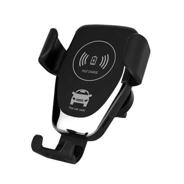 C12 Cargador de coche inalámbrico 10W Cargador inalámbrico rápido Soporte de montaje en automóvil Soporte de teléfono de gravedad de ventilación Compatible para iphone samsung Todos los dispositivos Qi