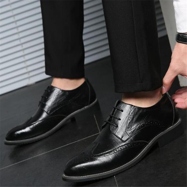 Luxury Fashion Mens Gommino Dress Casual Party Loafers Fashionable Trend Shoes Cowskin Single Shoe Slip On Wedding Pumps Black 38-48