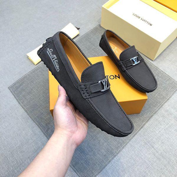 19ss designer en cuir véritable chaussures hommes marques de luxe casual slip sur mocassins formels hommes mocassins italien noir bleu hommes chaussures