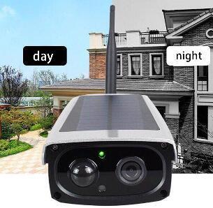 2019 Surveillance Night Vision Infrared Waterproof Camera Wireless High Definition WIFI Solar Powered