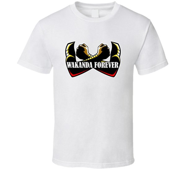 Wakanda Forever Black Panther Men's T-Shirts Clothing Tees S-2XLFunny free shipping Unisex Casual Tshirt