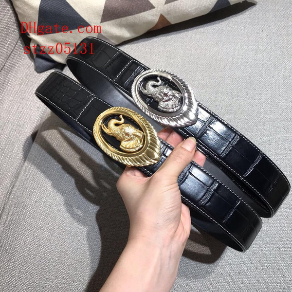 2019 fashion newThe New beltsbelts for men big buckle belt top mens leather wholesale mens belts Eagle head buckle