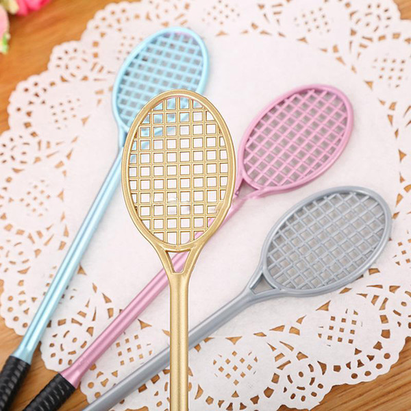 Badminton Racket Shaped Gel Pens Creative Stationery for Office School Supplies