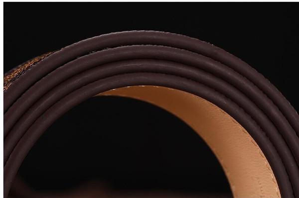 2019 donne cinghia di alta qualità Vera Pelle Bianco e nero di colore della pelle bovina cinghia per le cinghie Mens Belt Cinto Masculino Loui 100-125CM