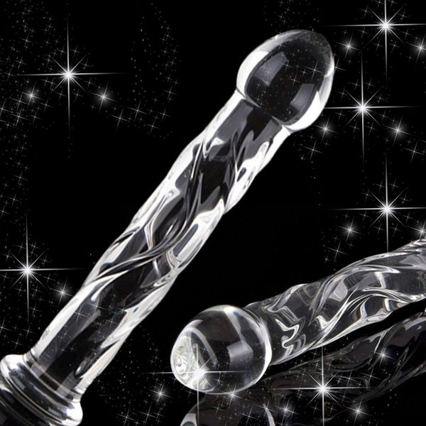 ORISSI Crystal Glass Dildo Realistic Penis Sex Toys Anal Butt Plug Vagina G-Spot Stimulator Anus Massager Adult Sex Products Y191207