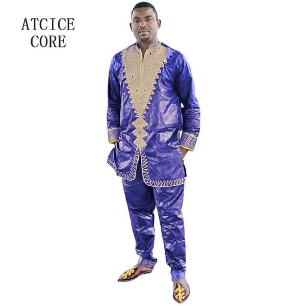 africano roupas dashiki mens tradicional africano roupas Bazin riche projeto LC044 #