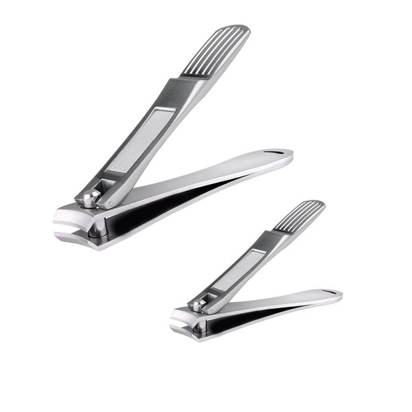 Chimocee Nail Clippers, 2PCS Professional Sharpest Stainless Steel Fingernail and Toenail Clippers,Heavy Duty Big Nail Clippers Set for Men