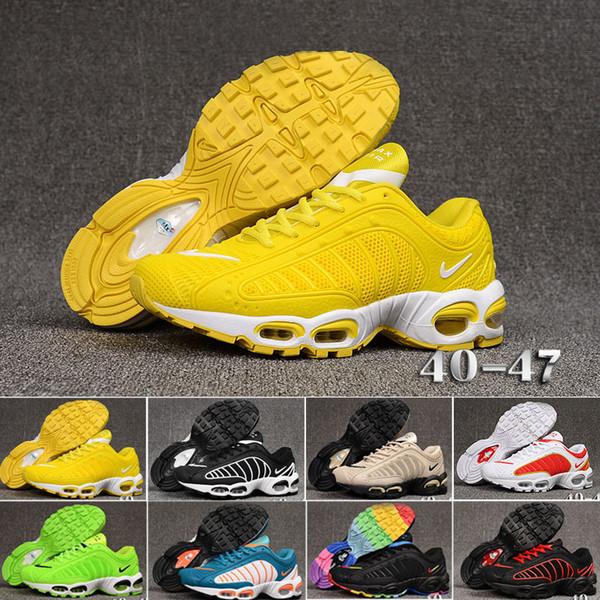 Nike TN Plus Tailwind IV 4 Livraison Gratuite Nouveau 2019 Chaussures De Tennis Baskets TN Plus Respirant Air Cusion Desingers Chaussures De Course Décontractée Nouvelle Arrivée