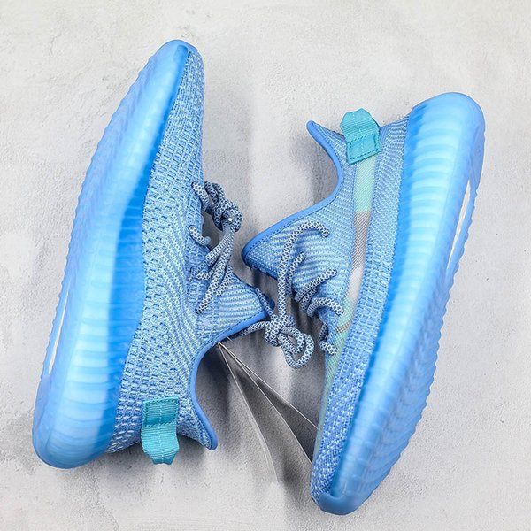 Ice Blue Kanye West Coconut Gauze Transparent V2 New Arrivals Running Shoes Low Designer Casual Sneakers Mens Women With Box1564653304918