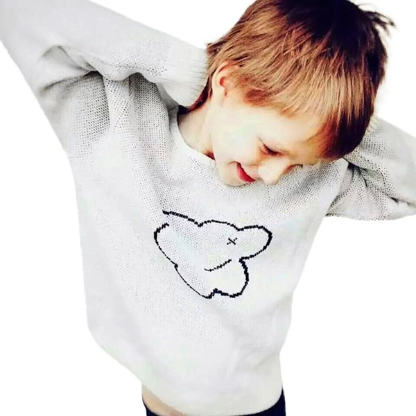 CASUAL Toddler Kid Boys Girls Clothes Long sleeve vetement enfant garcon Knitted Cloud Sweater Cardigan Coat Tops