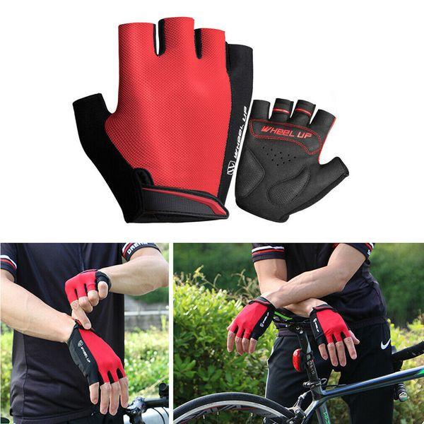 MTB Road Cycling Bike Bicycle racing Half Finger Glove Fingerless Gloves Green