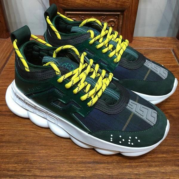 2019 Chain Reaction Casual Designer Sneakers Sport Fashion Casual Shoes Trainer Lightweight Link-Embossed Sole With Dust Bag