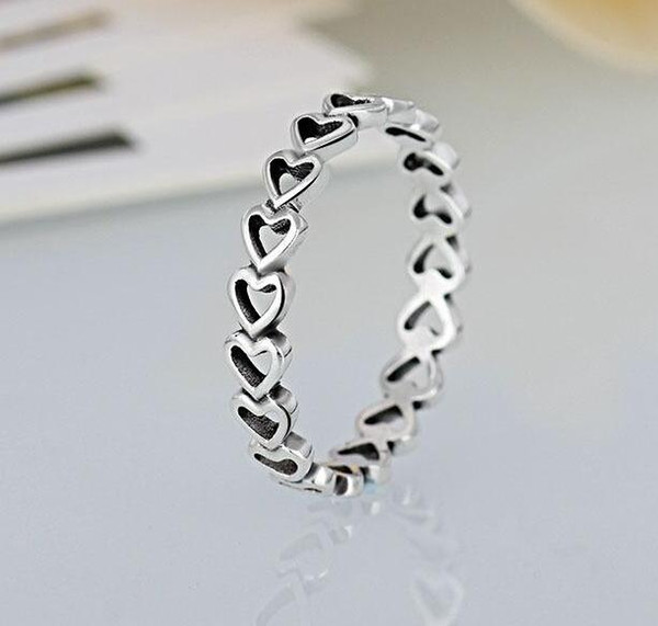 30% silver hearts ring #01