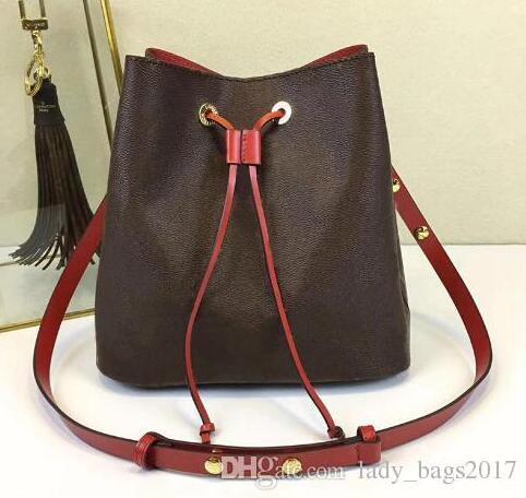 Newset Classic NEONOE Bucket Purse Designer Handbags Shoulder Bag Tote Printing Flowers Shopping Bag Real Leather Messenger Crossbody Bag