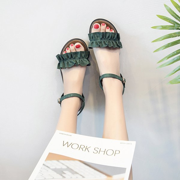 Hotsale Summer Fashion Trend Women Beach Sandals Black Green Brown Ladies Girle Love Vogue Style Comfortable to Wear Daily Casual Shoes