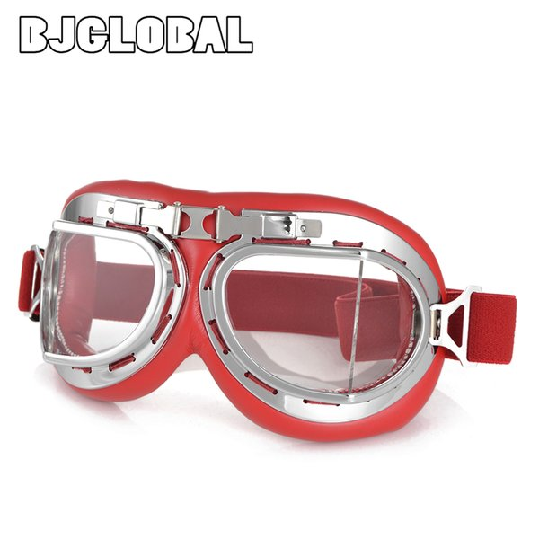 2019 NEW Motorcycle Helmet Glasses Motorbike Vintage Leather Goggles Cruiser Folding Riding Bike Cycling 100% Goggles Glasses