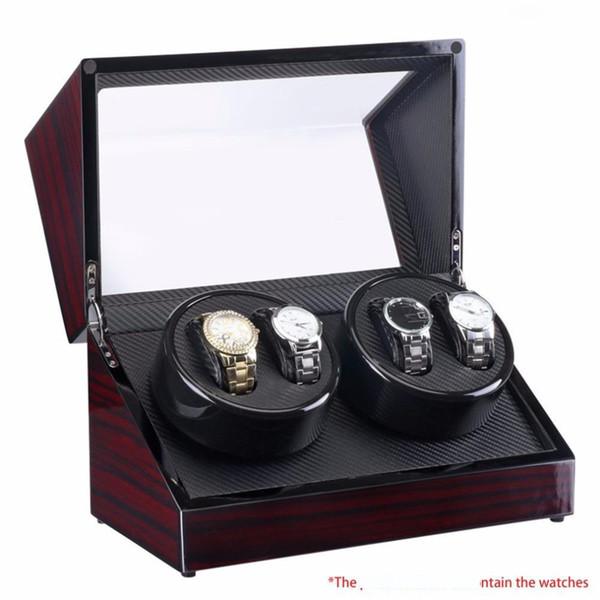 Guarda Winders 4 Slot Lacquer orologio Ruota elettrica Box silenzioso motore di visualizzazione dell'orologio di lusso di caso spina degli Stati Uniti