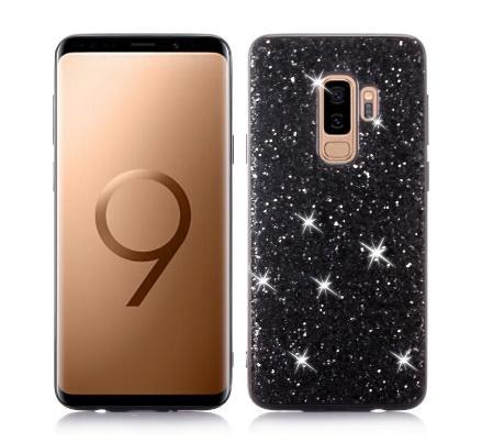 Caja del teléfono para Samsung Galaxy Plus S9 caso de Bling del brillo de las lentejuelas de cristal TPU de la cubierta Fundas para Samsung S9 S9 Plus