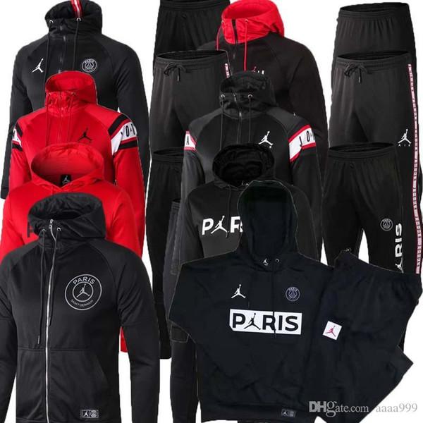 2019 2020 PSG Paris hoodie soccer jacket 2018/19 psg tracksuit football jacket MBAPPE champion Survêtement Jordam X psg hoodie
