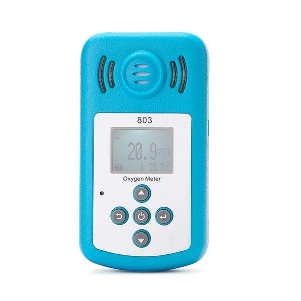 Détecteur de concentration portable en oxygène (O2) avec oxygénomètre (O2) avec moniteur LCD