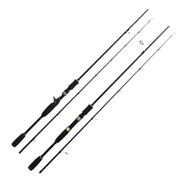 New Lure Fishing Rod 1.8m 2.1m 2.4m 2 Section MH Power Fishing Pole Carbon Fiber Spinning/Casting Travel Rod Tackle