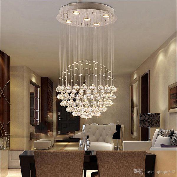 Modernos Grandes Lustres de Cristal Luminária para Lobby Escada Lustre Espiral Longa Luz de Cristal Lustre Lâmpada Do Teto